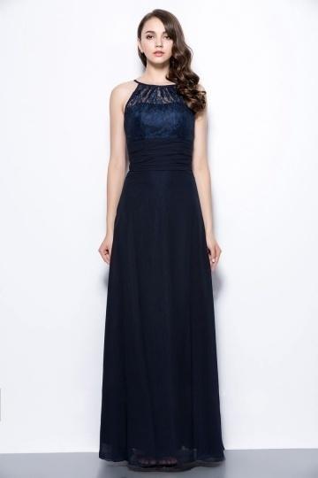 robe-bleu-marine-pour-temoin-mariage-a-haut-dentelle-col-halter
