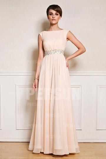robe-de-soiree-pour-mariage-longue-encolure-bateau-avec-ceinture-ornee-de-bijoux
