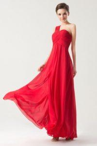 robe-rouge-longue-asymetrique-empire-plisse