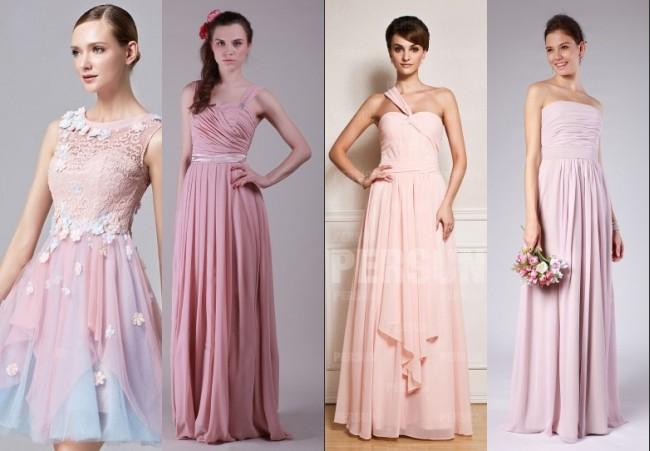 robe demoiselle d honneur rose pour mariage blog officiel de. Black Bedroom Furniture Sets. Home Design Ideas