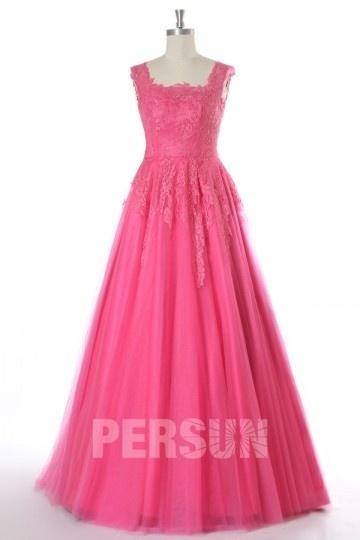 robe-princesse-en-tulle-rose-fuchsia-bustier-dentelle-pour-mariee