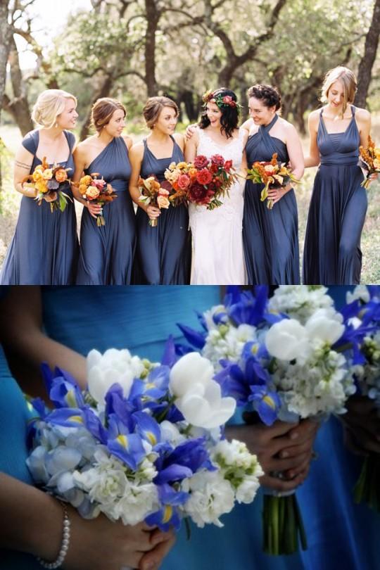 robe-bleu-fleurs-bleues-claires-dans-mariage