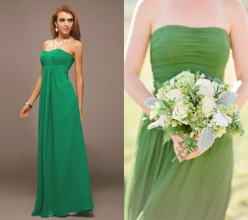 chic-robe-verte-longue-plissee-bustier-coeur-pour-demoiselle-dhonneur