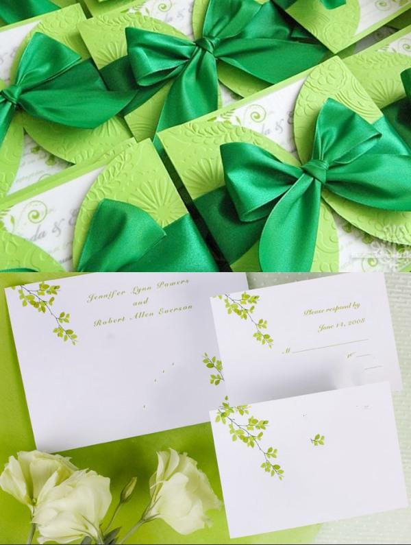 invitation-du-mariage-chic-en-vert