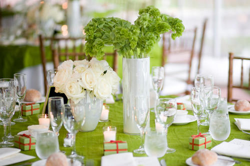 serviettes-de-table-de-couleur-verte