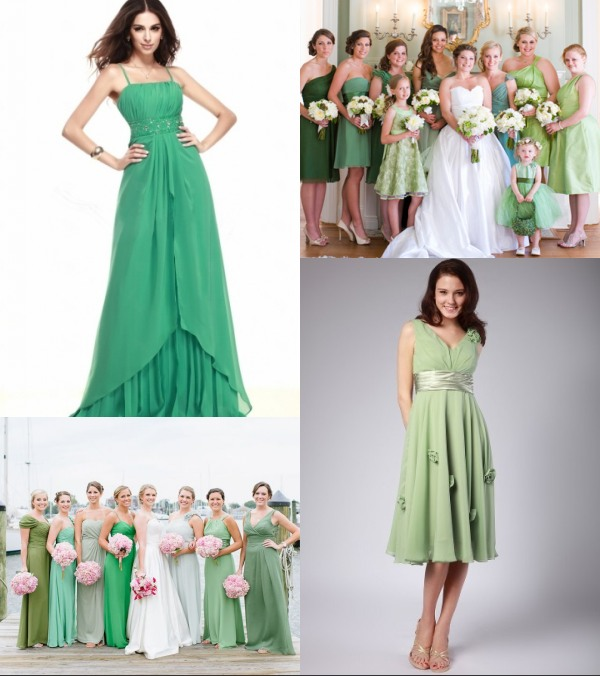 Robe verte greenery blog officiel de for Robes de demoiselle d honneur de mariage nautique