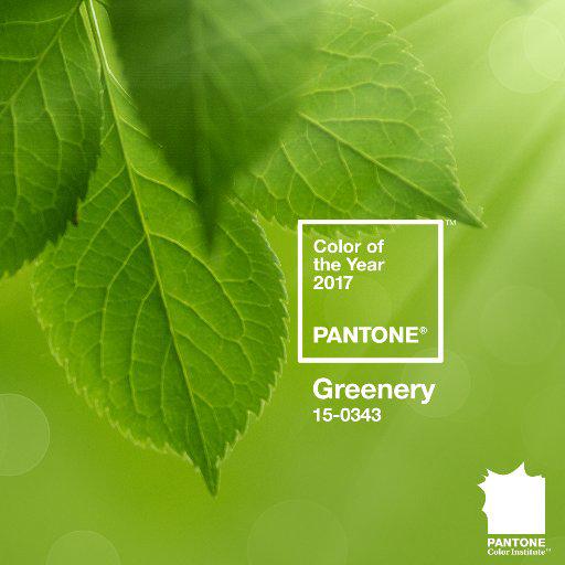 vert de 2017 par Pantone