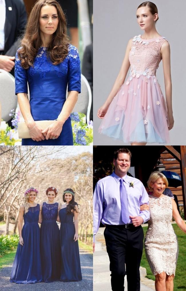 Robe de soirée bordée de fleurs pour soirée de mariage