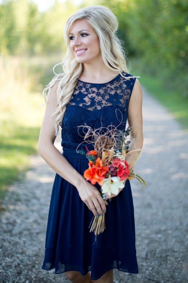 Blog officiel de for Mariage robe midi marine