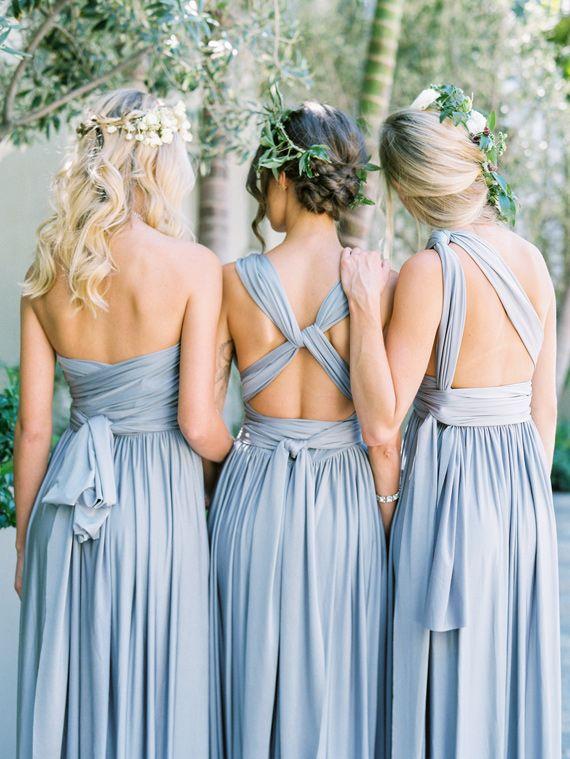 Robes demoiselle d'honneur 2017 bleu dos nu