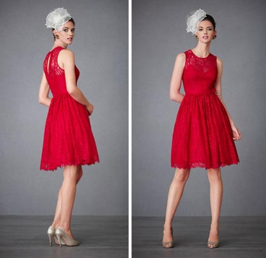 Petite robe invité bordeaux dentelle vintage encolure illusion à nœud papillon