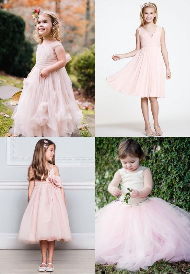 Robes roses pastel pour cérémonie de mariage