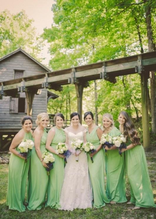 chic robe demoiselle d'honneur verte pastel 2017