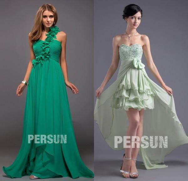 robe-longue & courte-verte-pour-mariage