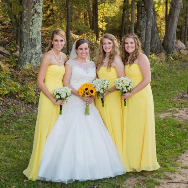 robes en jaune longue pour mariage