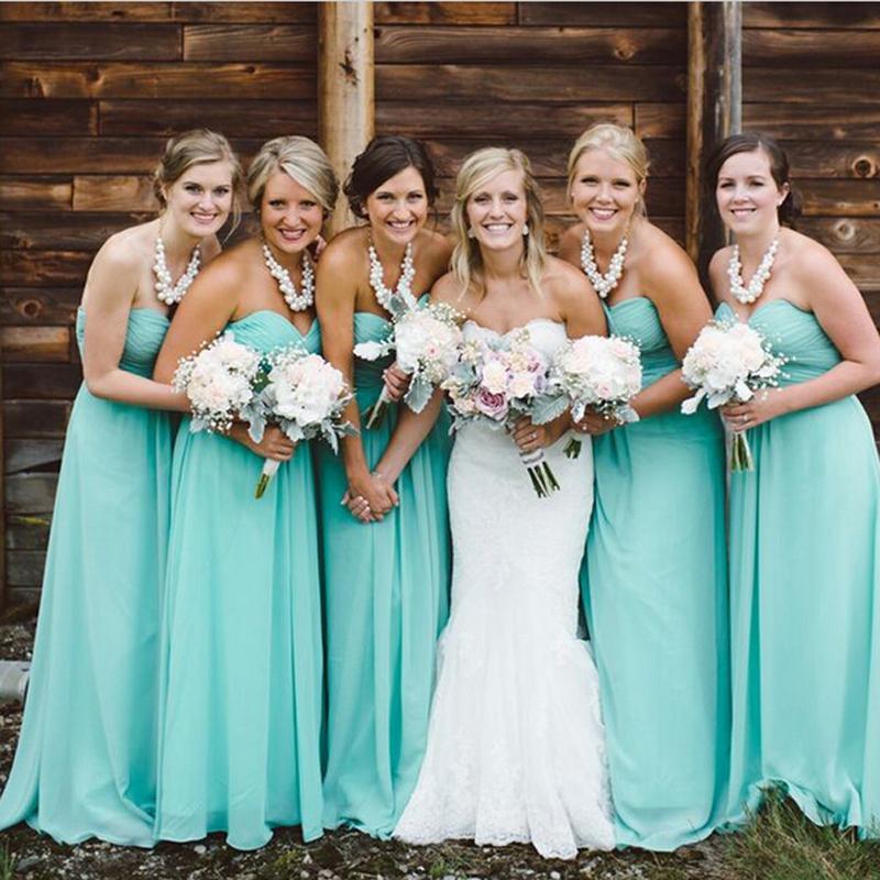 robes turquoise bustier coeur pour demoiselle d'honneur