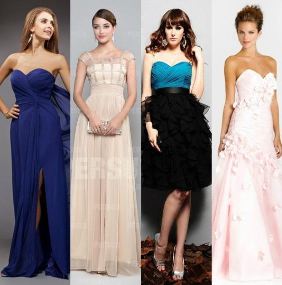 Robe longue pour t moin de mariage un choix on ne peut for Noms de style de robe de mariage