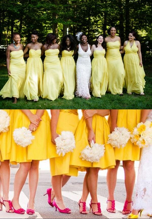 palette robe jaune pour un mariage