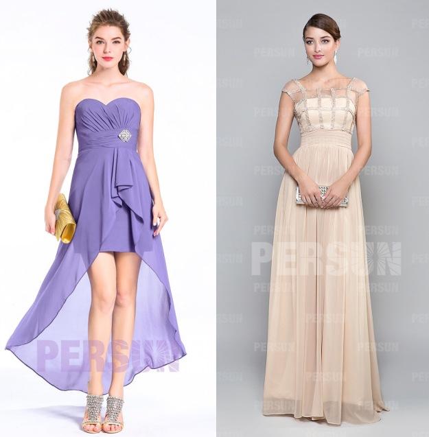 robes témoin mariage chic voilette et couleur nu