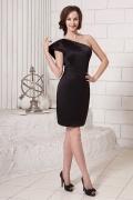 Petite robe noire fourreau asymétrique pour invité mariage