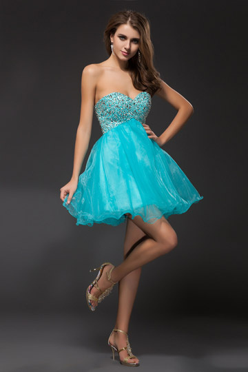 robe courte turquoise pour mariage patineuse bustier coeur. Black Bedroom Furniture Sets. Home Design Ideas