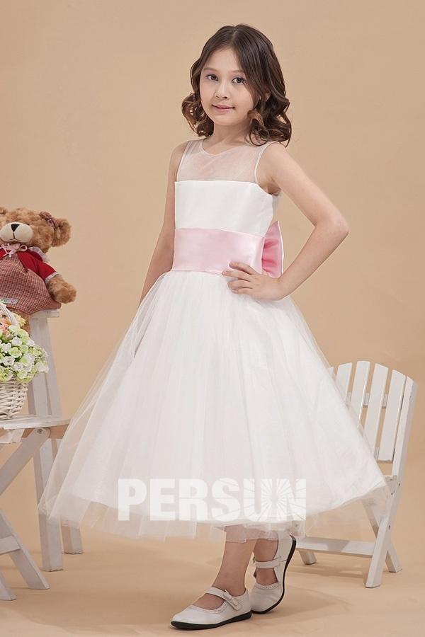 Robe mariage enfant princesse noeud papillon en tulle - Robe de petite fille pour mariage ...